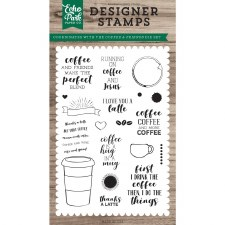 Coffee & Friends Designer Clear Stamps
