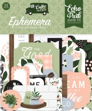 Coffee & Friends Ephemera Die Cuts