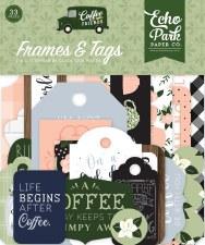Coffee & Friends Ephemera Die Cuts- Frames & Tags