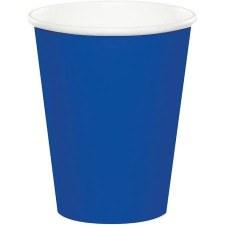 Touch of Color 9oz Paper Cups, 24ct- Cobalt Blue