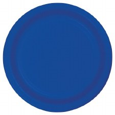 """Touch of Color 7"""" Paper Plate, 24ct- Cobalt"""
