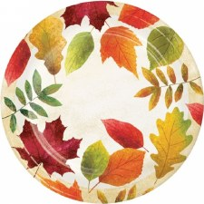 """Colorful Leaves Plates, 7"""""""