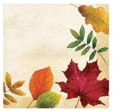 Colorful Leaves Napkins, Beverage