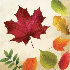Colorful Leaves Napkins, Luncheon