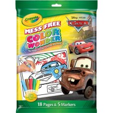Crayola Color Wonder Coloring Pages & Markers- Cars