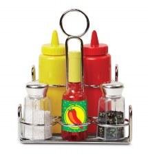 Melissa & Doug Food/Kitchen Play Set- Condiments Set