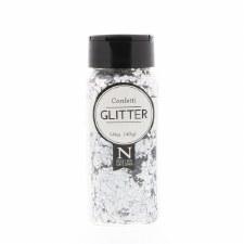 2oz. Confetti Glitter- Shredded Silver