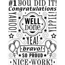 Darice Embossing Folder- Phrases- Congratulations Words