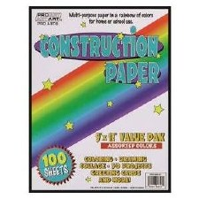 "Construction Paper Value Pack, 9""x12""- 100ct"