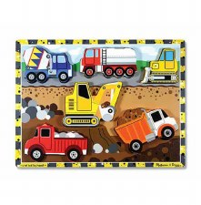 Melissa & Doug Chunky Puzzle- Construction Site