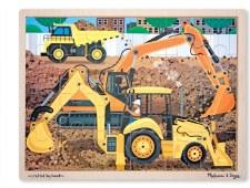 Melissa & Doug Jigsaw Puzzle- Construction 24 pc