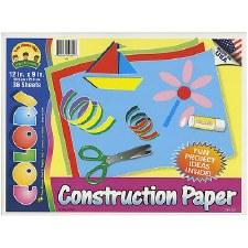 """Construction Paper Pad 12"""" x 9"""" 36pcs"""
