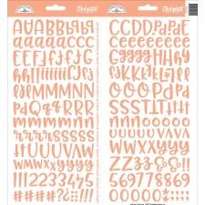 Abigail Alphabet Sticker- Coral