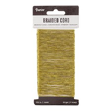 Braided Cord, 30yds- Metallic Gold