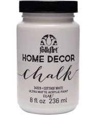 FolkArt Home Decor Chalk Paint 8 oz- Cottage White