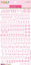 Florence Alphabet Stickers- Cotton Candy