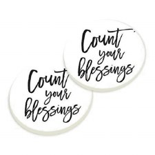 Car Coasters, 2pk- Count Your Blessings