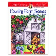 Creative Haven Adult Coloring Book- Country Farm Scenes