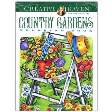 Creative Haven Adult Coloring Book- Country Gardens