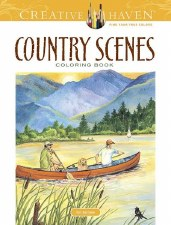 Creative Haven Adult Coloring Book- Country Scenes