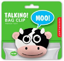 Kikkerland Bag Clip- Talking Cow