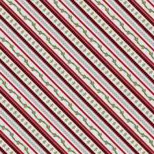 Cozy Critters Fabric- Red Ticking Stripe