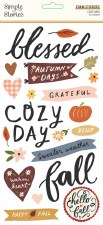 Cozy Days Stickers- Foam Phrases
