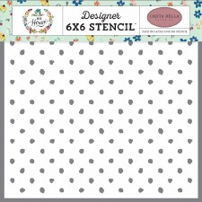 6x6 Stencil- Cozy Dot
