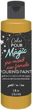 Color Pour Magic Paint, 8oz- Metallic Gold