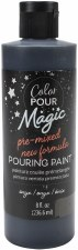 Color Pour Magic Paint, 8oz- Onyx