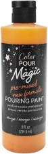 Color Pour Magic Paint, 8oz- Orange
