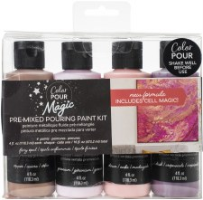 Color Pour Magic Paint Kit, 4ct- Fiery Opal