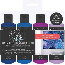 Color Pour Magic Paint Kit, 4ct- Galaxy Surge