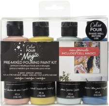 Color Pour Magic Paint Kit, 4ct- Nostalgia