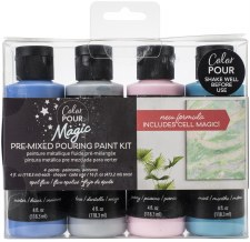 Color Pour Magic Paint Kit, 4ct- Opal Flux