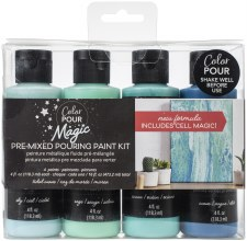 Color Pour Magic Paint Kit, 4ct- Tidal Wave