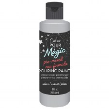Color Pour Magic Paint, 8oz- Metallic Silver