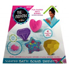 Be Inspired Scented Bath Bomb Set, 4pc