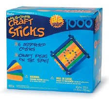 Craft Sticks, Colored- 1000pc