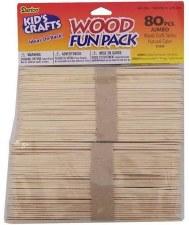 Craft Sticks, Jumbo- 80pc