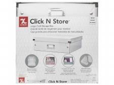 """Click 'N Store Storage Box, White-  8""""x13.5""""x6.5"""""""