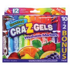 Scented Gel Markers, 12ct