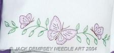 Pillowcases- Butterflies Perle Edge