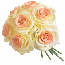 Ashley Rose Wedding Bouquet- Cream & Peach
