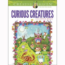 Creative Haven Adult Coloring Book- Curious Creatures