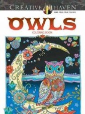 Creative Haven Adult Coloring Book- Owls