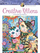 Creative Haven Adult Coloring Book- Creative Kittens