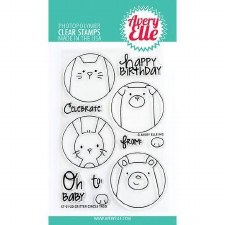 Avery Elle Critter Circle Clear Stamp Set