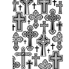 Darice Embossing Folder- Crosses