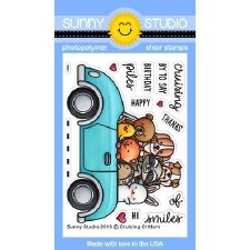 Sunny Studio Cruising Critters Clear Stamp